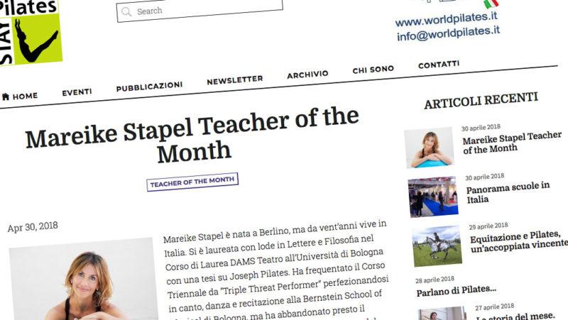 Mareike StapelPilates Teacher of the Month