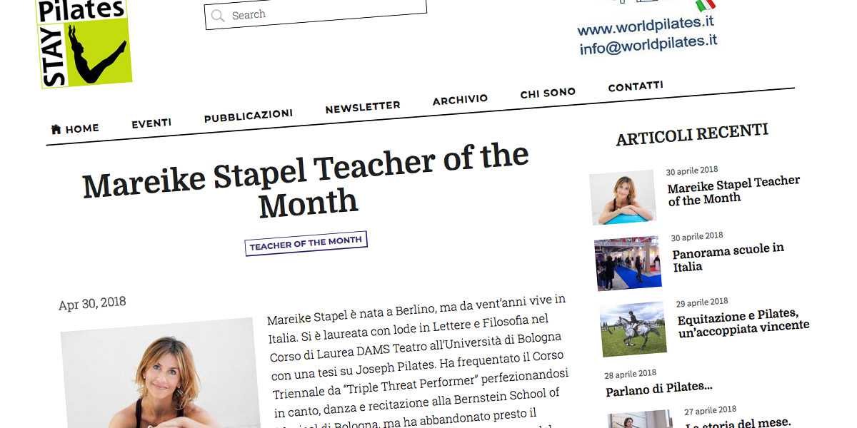 Mareike StapelPilates Teacher of the Month